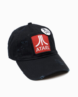 Atari Distressed Low Profile Hat Side View