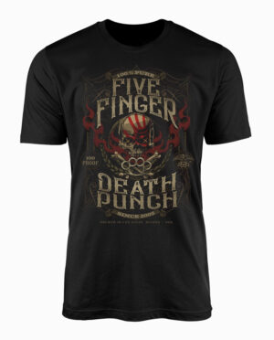 Five Finger Death Punch 100 Proof Black T-Shirt