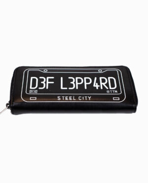 Def Leppard British Flag and License Plate Black Wallet