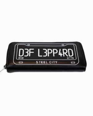 Def Leppard British Flag and License Plate Black Wallet