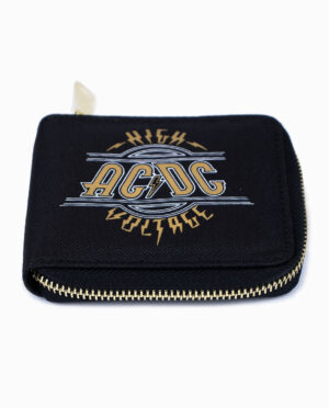 AC/DC Metallic Gold and Black Wallet