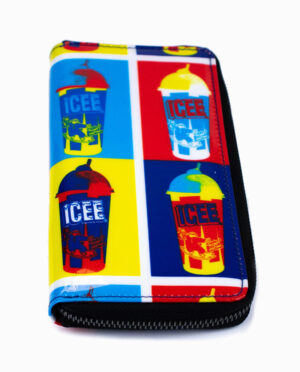 ICEE 4 Panel Zipper Coin Purse Wallet