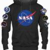 NASA Black Hoodie w/Sleeve Logos