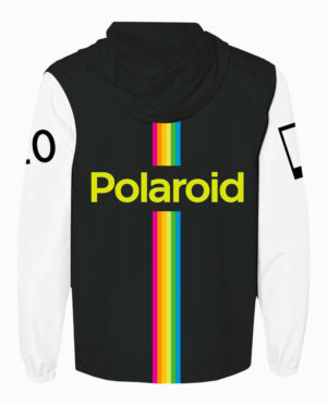 Polaroid Hooded Windbreaker Rear View