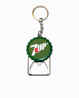 7 Up Bottle Cap Keychain
