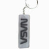 NASA Acrylic Transparent Rubber Keychain