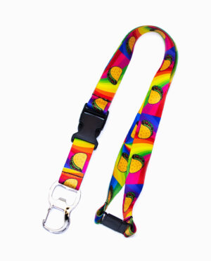 Multi-Color Bottle Opener Taco Lanyard