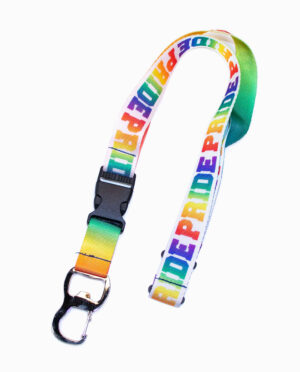 """PRIDE"" Multi-Color Rainbow Bottle Opener Lanyard"