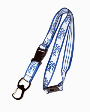 Ford White and Blue Bottle Opener Lanyard