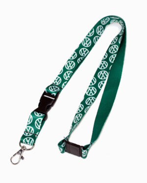 Volkswagen VW Repeat Print Green Lanyard
