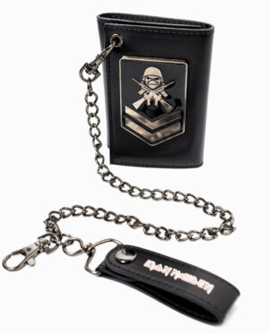 Iron Maiden A Matter of Life and Death Trifold Chain Wallet
