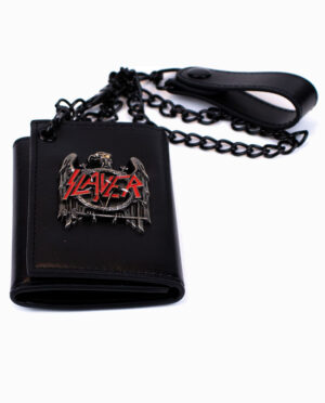Slayer Eagle Band Logo Black Chain Wallet