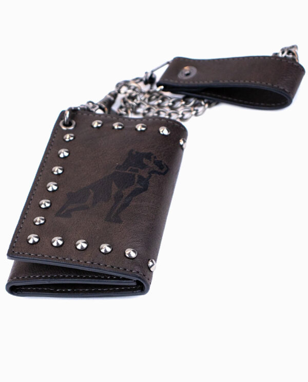 Mack Truck Charcoal Studded Chain Wallet
