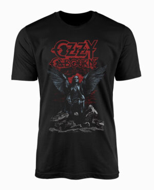 Ozzy Ozbourne Angel Wings Black T-Shirt