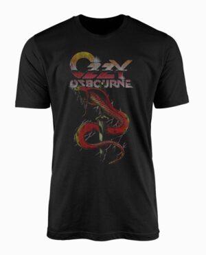 Ozzy Osbourne Vintage Snake Black T-Shirt