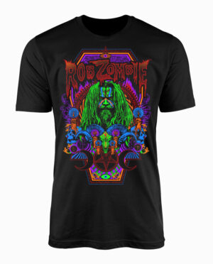 Rob Zombie Necro Color Black T-Shirt