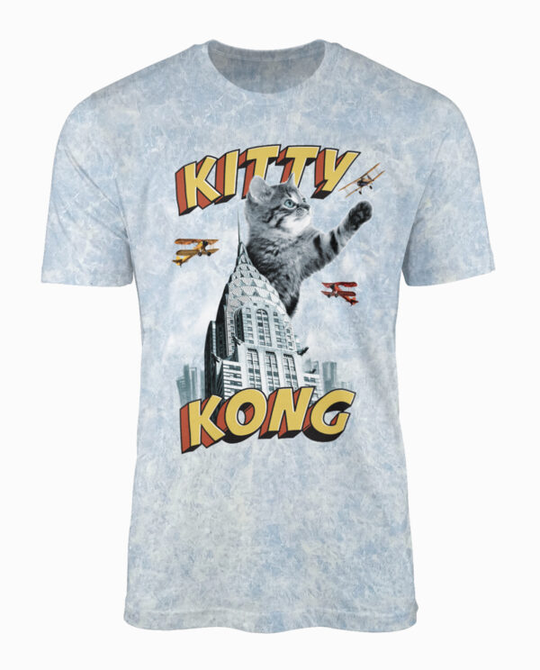 Kitty Kong on Blue Wash T-Shirt