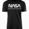 NASA Stars & Stripes Black T-Shirt
