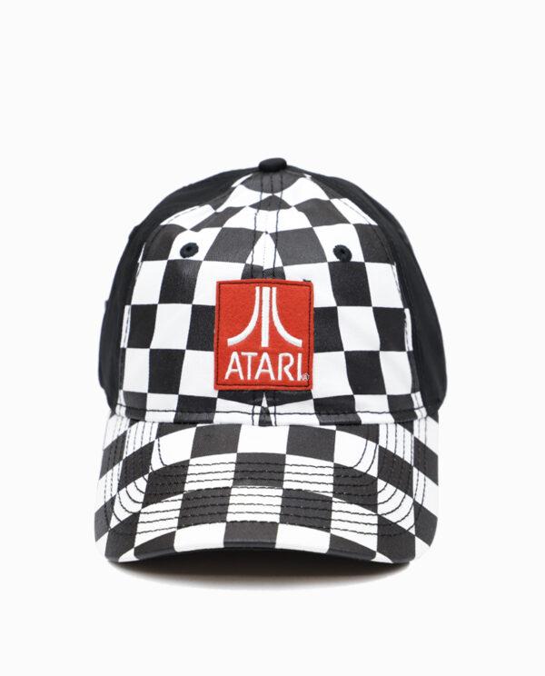 Atari Checker Hat Front View