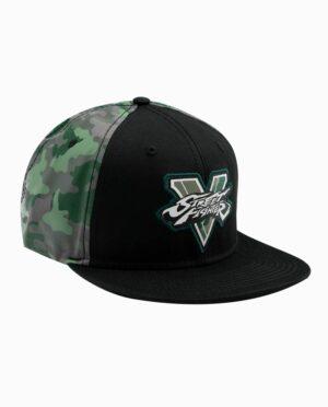 Street Fighter V Black and Green Camo Snapback Hat
