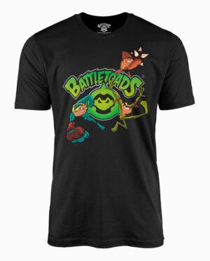 Battletoads Zits, Rash, and Pimple Black T-Shirt