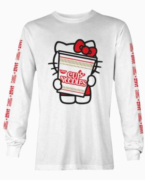 Hello Kitty CUp Noodles White Long Sleeve T-Shirt Main Image