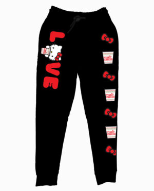 Hello Kitty Cup Noodles Black Joggers Main Image