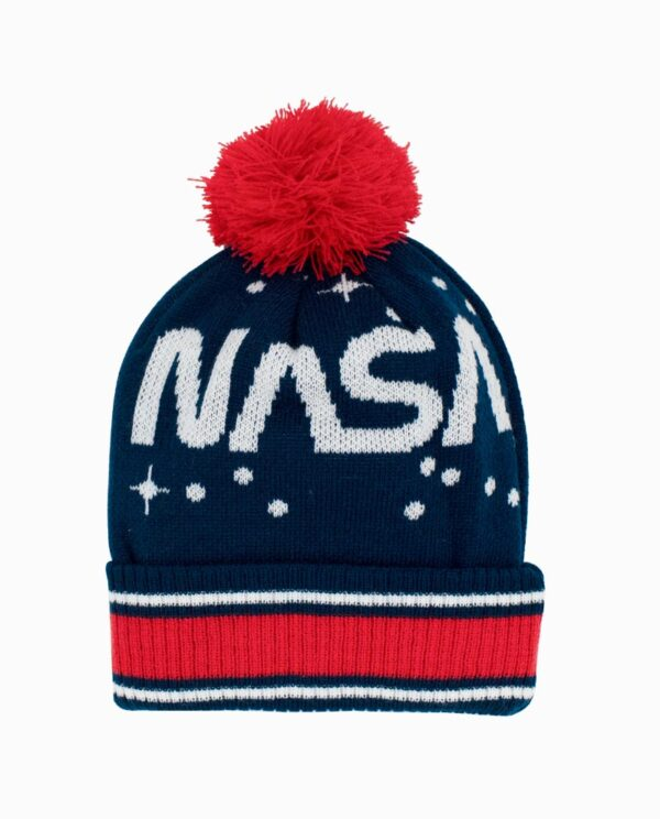 NASA Navy/Red Starts Beanie Main Image
