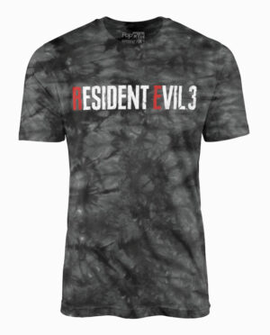 Resident Evil 3 Remake Grey and Black Wash T-Shirt