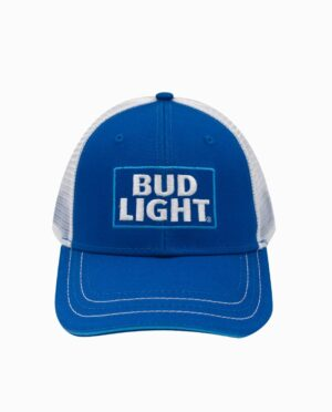 Bud Light Royal and White Trucker Hat
