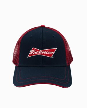 TC14062BUDU-budweiser-navy-red-trucker-hat-front