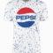Pepsi Blue Speckle Dye White T-Shirt