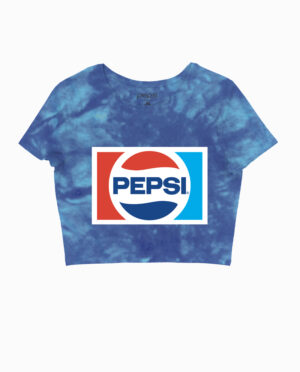 Pepsi Crystal Wash Blue and White Crop Top T-Shirt