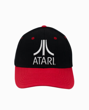 "Atari ""The Fuji"" Black and Red Snapback Hat"