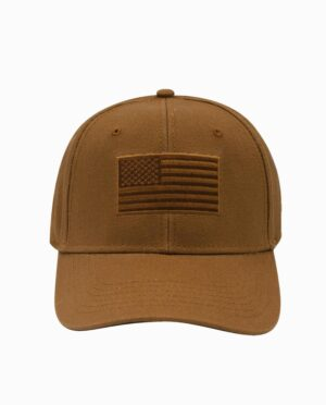 Carhartt Brown USA Flag Snapback