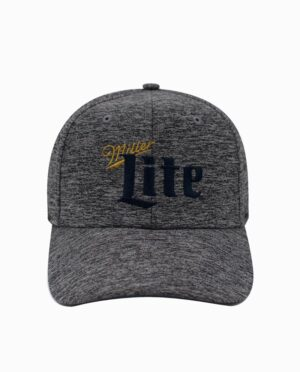 Miller Lite Charcoal Cationic Snapback Hat