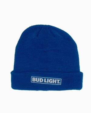 Bud Light Navy Light Weight Knit Cuff Beanie