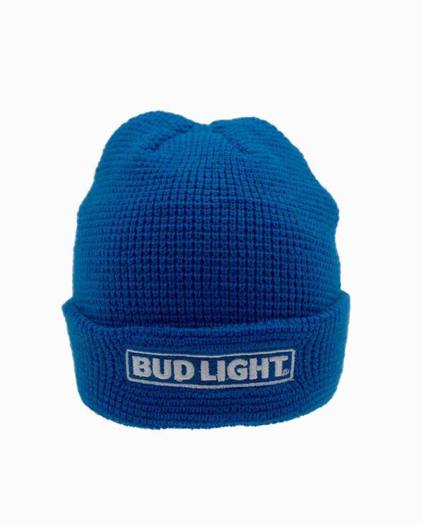 Bud Light Navy Light Weight Knit Cuff Beanie