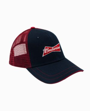 Budweiser Navy & Red Trucker Hat Main Image