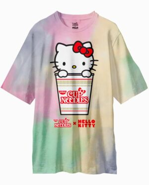 Hello Kitty Cup Noodles Tie-Dye Oversized T-Shirt Main Image