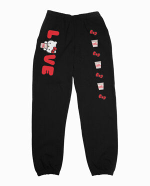 Hello Kitty x Cup Noodles Love Black Joggers Main Image