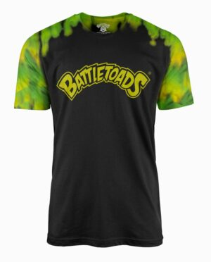 Battletoads Black and Green Tie Dye T-Shirt