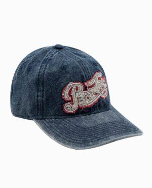 Pepsi Acid Washed Denim Strapback Hat