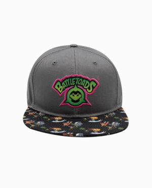 Battletoads Grey 6 Panel Snapback Hat