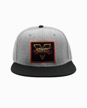 Street Fighter V Grey and Black Strapback 6 Panel Hat