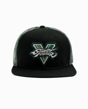 Street Fighter V Black and Green Camo Snapback Hat