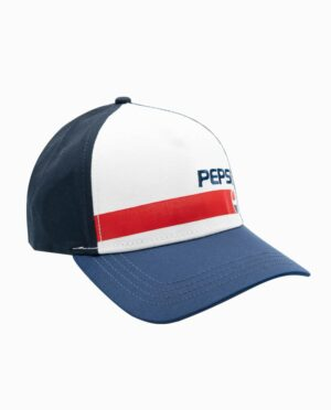 Pepsi White, Blue, and Red Mesh Trucker Snapback Hat