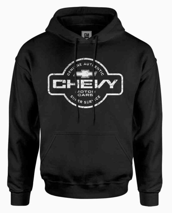 Chevy Super Service Hooded Black Sweatshirt