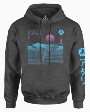 Atari Charcoal Retro Kanji Hoodie