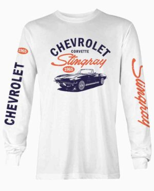Chevy Corvette Stingray White Long Sleeve Shirt